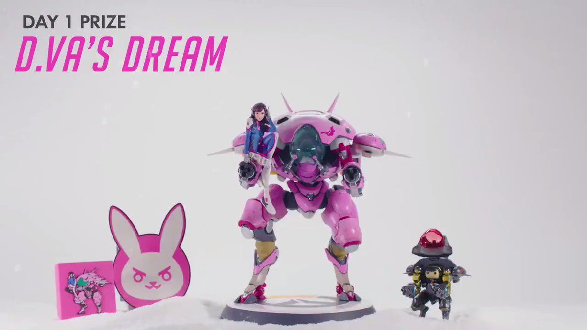 #HappyHeroDays! We're giving away 12 prizes in 12 days, ending with one legendary GRAND PRIZE from @Razer.  DAY 1:  D.Va's Dream. RT to enter to win the sweepstakes!  📜 http://blizz.ly/HappyHeroDays