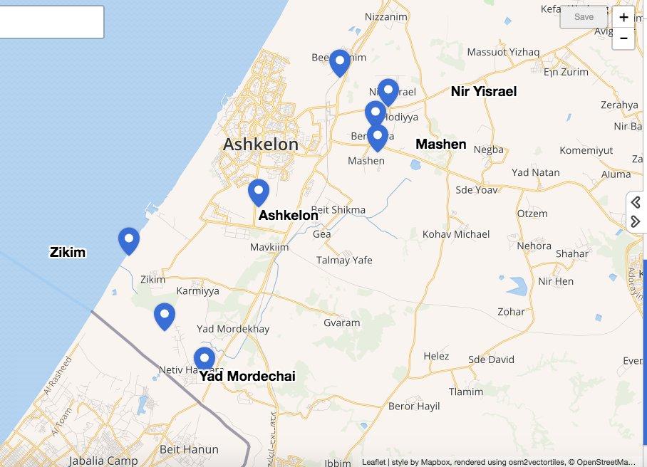 Seth Frantzman on Twitter Locations red alert sirens heard in