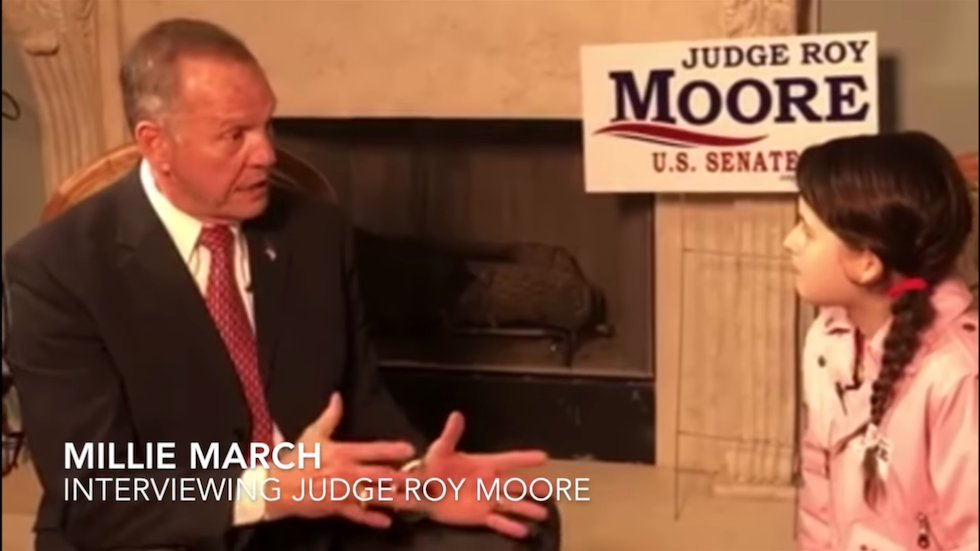 Pro-Trump group has 12-year-old girl interview Roy Moore https://t.co/2axlzMIdgj