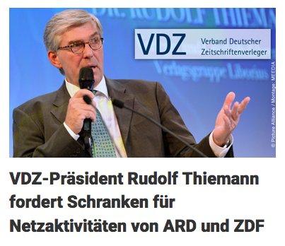 Diese Überschrift von @dpa ist reine Verlags-Propaganda. Es *gibt* bereits weitreichende Schranken für Netzaktivitäten von ARD und ZDF. @fhomburger