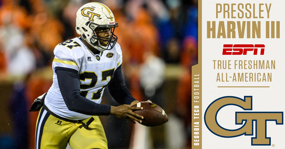 Georgia Tech Football On Twitter Congrats To Espn True Freshman All American Pressley Harvin Iii Pressley Leads All True Freshmen Nationally With A 44 1 Yard Punting Average 18th Overall Https T Co 55bkulmhpi Https T Co 5gixj0p9zm