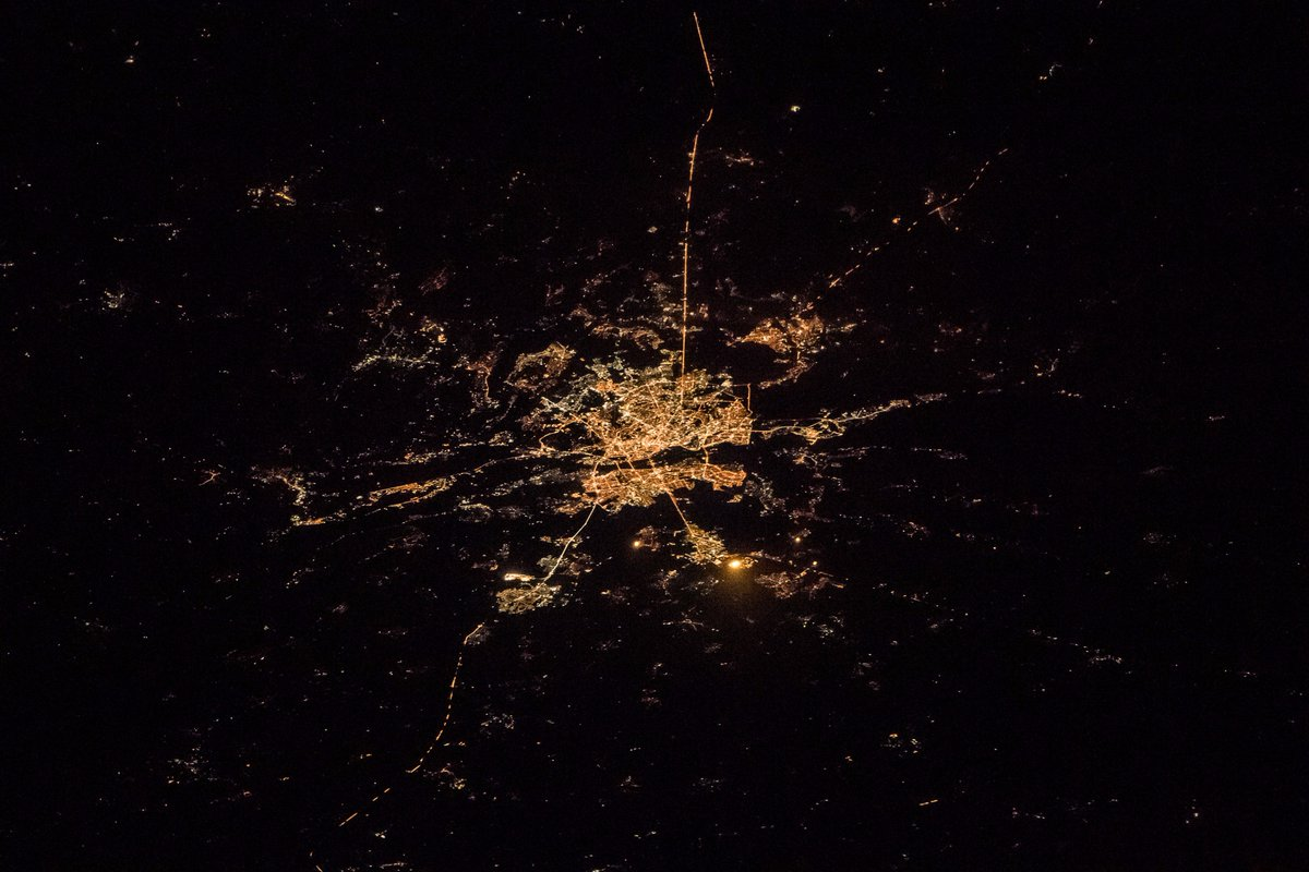 Good night from @Space_Station. Kiev Ukr...