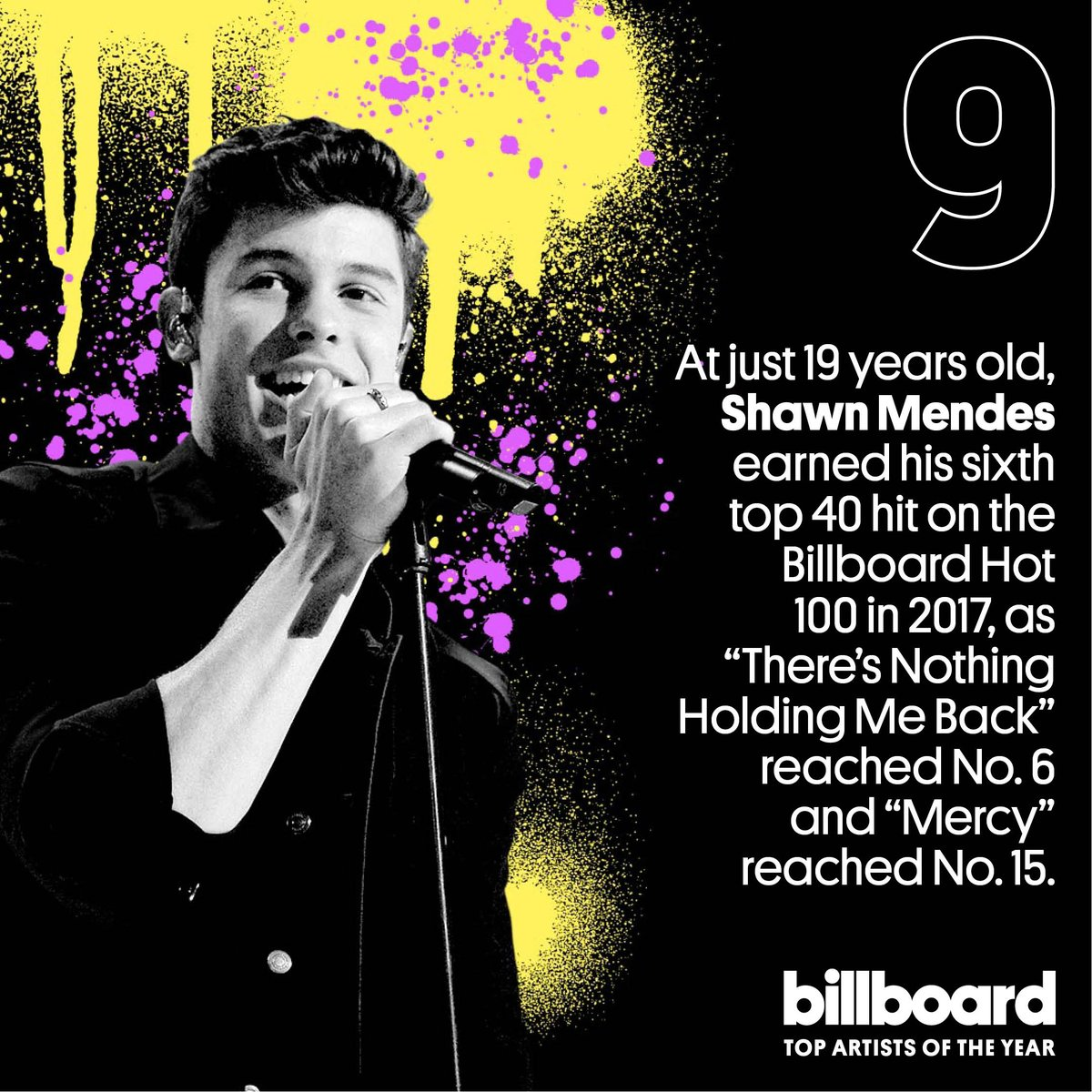 .@ShawnMendes comes in at No. 9 on our top artists of the year list! #YearInMusic https://t.co/luMRgEcwTi