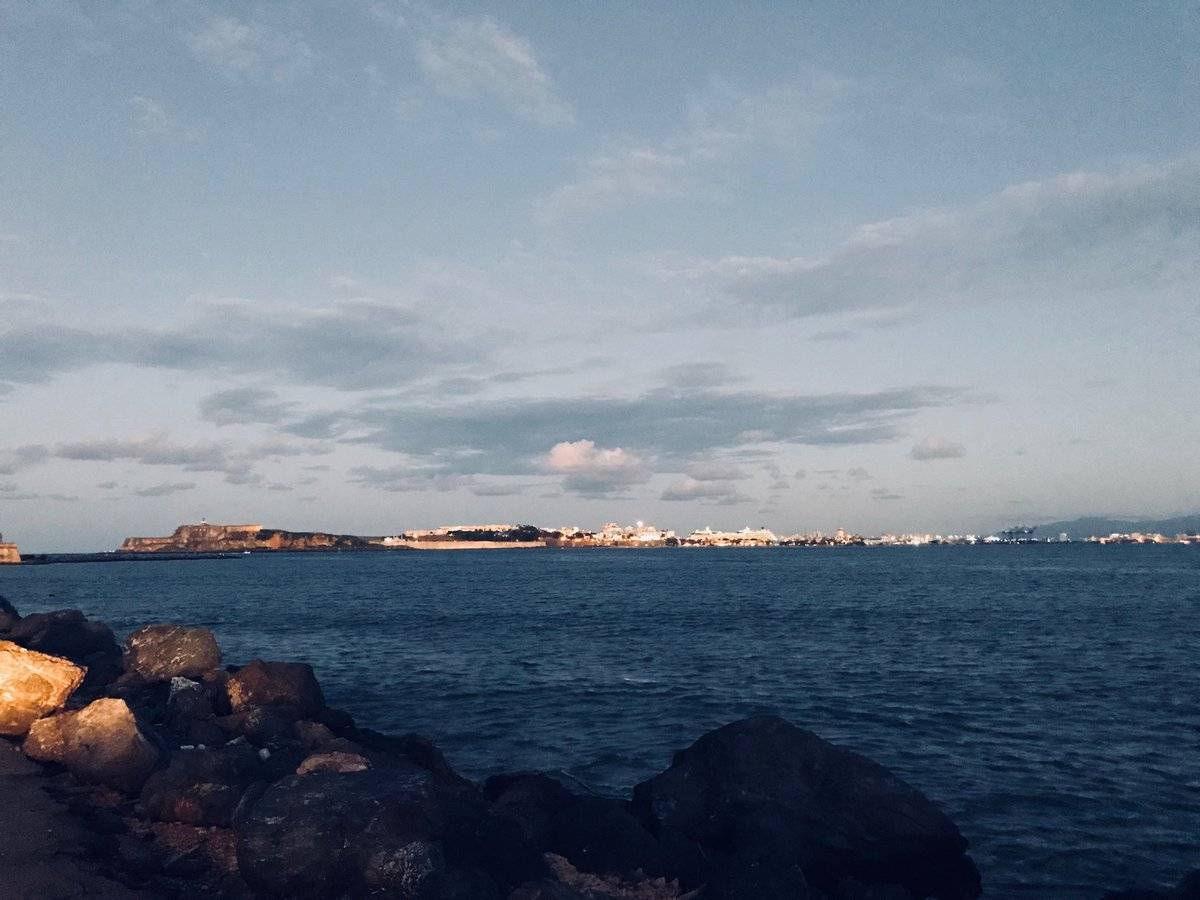 Nice to see parts of San Juan lit up at dusk...more than half the island is still in the dark 3 months after the storm Army Corps says #PuertoRico