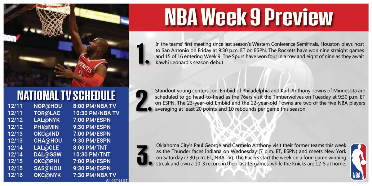 A look ahead to Week 9 around the Association!