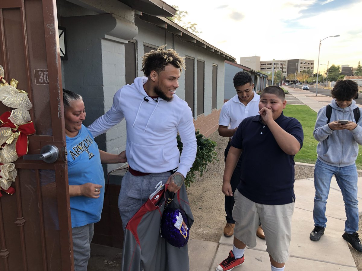 Tyrann mathieu surprising 10 phoenix families in need with christmas ...