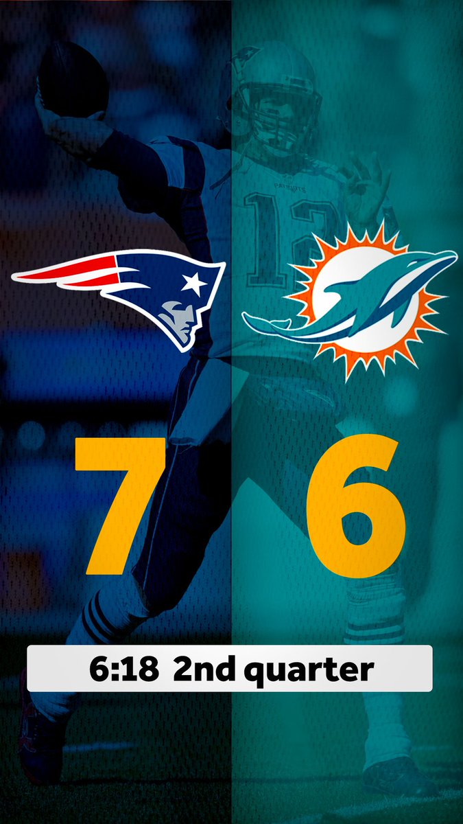Like we said, #Dolphins FG will not beat the #Patriots... who now have their first lead of the game. #NEvsMIA   Watch live #MNF @OnWCVB