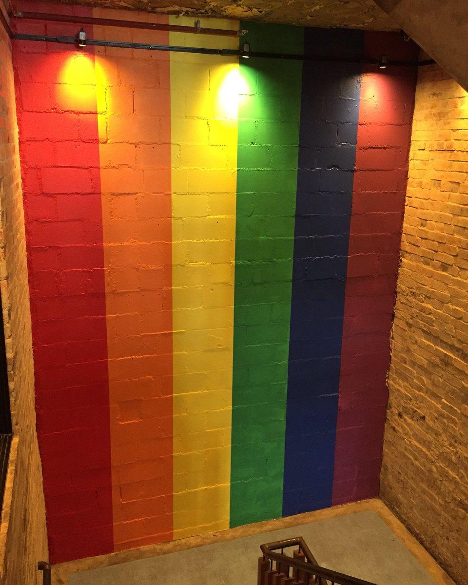 #rainbowmural painted @NewtownHotel to c...