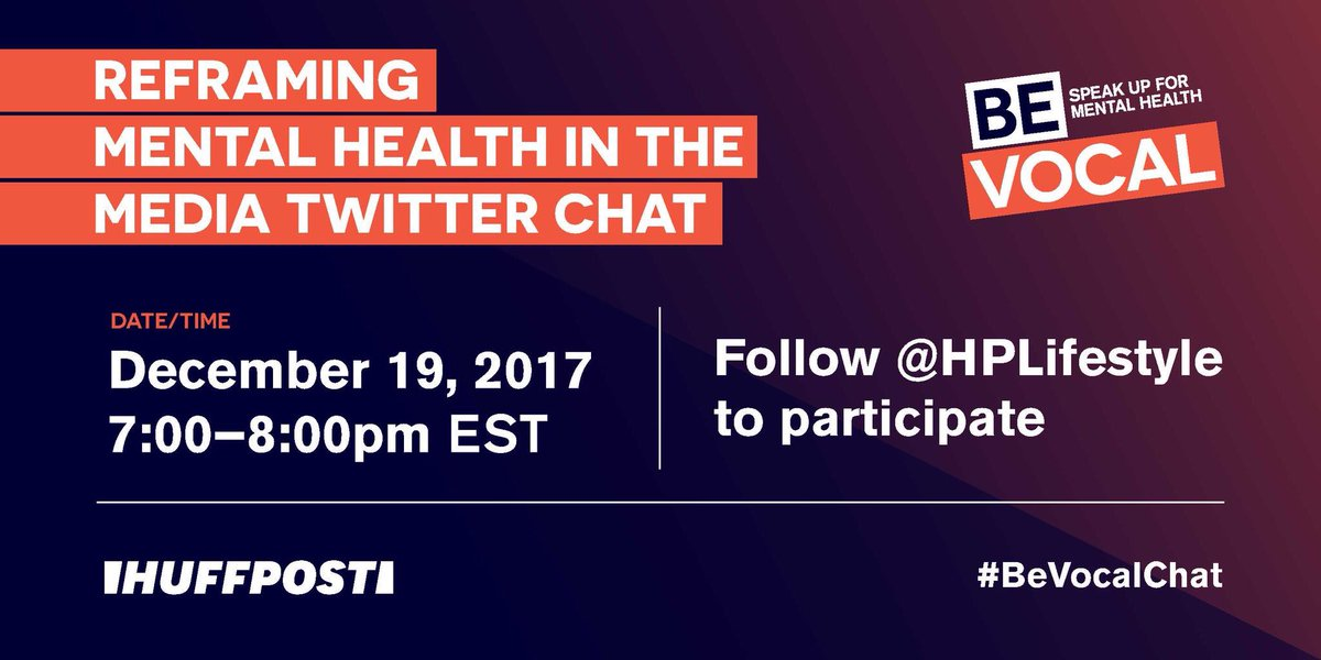 Have you ever felt that images in media coverage meant to represent mental illness were inaccurate or offensive? Join the #BeVocalChat on 12/19 at 7 pm ET and speak up about your experiences. Follow @HPLifestyle to view the questions.