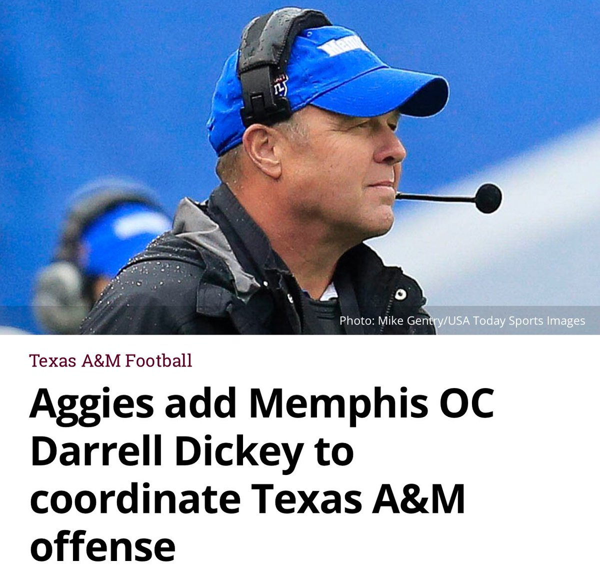 Congratulations @CoachDickey1! It was an honor to play for you in college! Welcome back to Texas! #🏈  READ: https://t.co/cgIUCesrcf