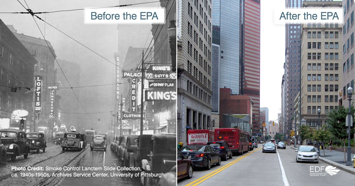 This is what the United States looked like before and after the EPA. We cannot let Scott Pruitt gut the agency that protects our air and water. Tell Congress to fully fund the EPA: https://t.co/NcmXdlsJgY