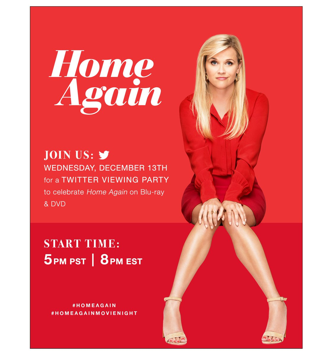 Save the date! Join the #HOMEAGAIN Twitter viewing party 12/13 at 8pm EST! Hope to tweet you then! 👋#ad #HOMEAGAINMOVIENIGHTMOVIENIGHT