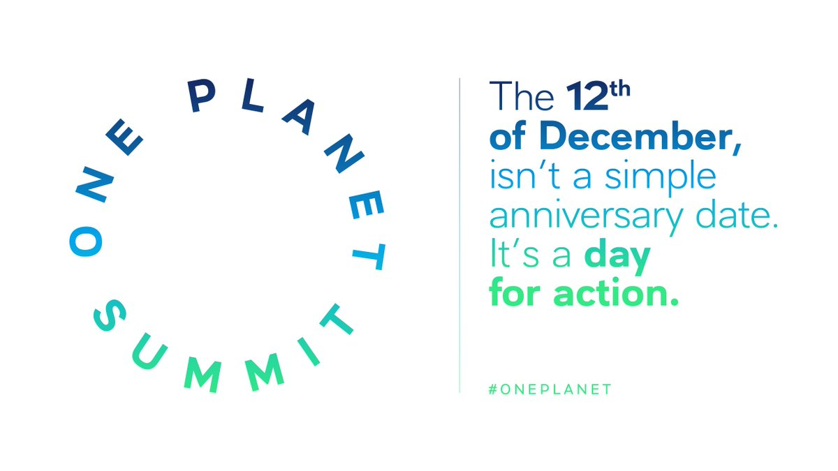 The 12th of December 2015 raised great hope. The 12th of December 2017, it's up to us to give ourselves the means of success. #OnePlanet #ParisAgreement https://t.co/h514720pwj