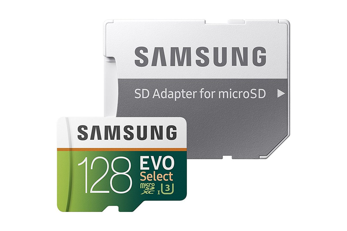 Samsung 128GB MicroSD cards back down to...