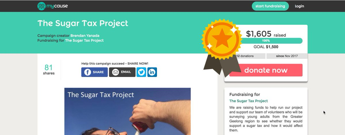 Woohoo! Another successful crowdfunding...