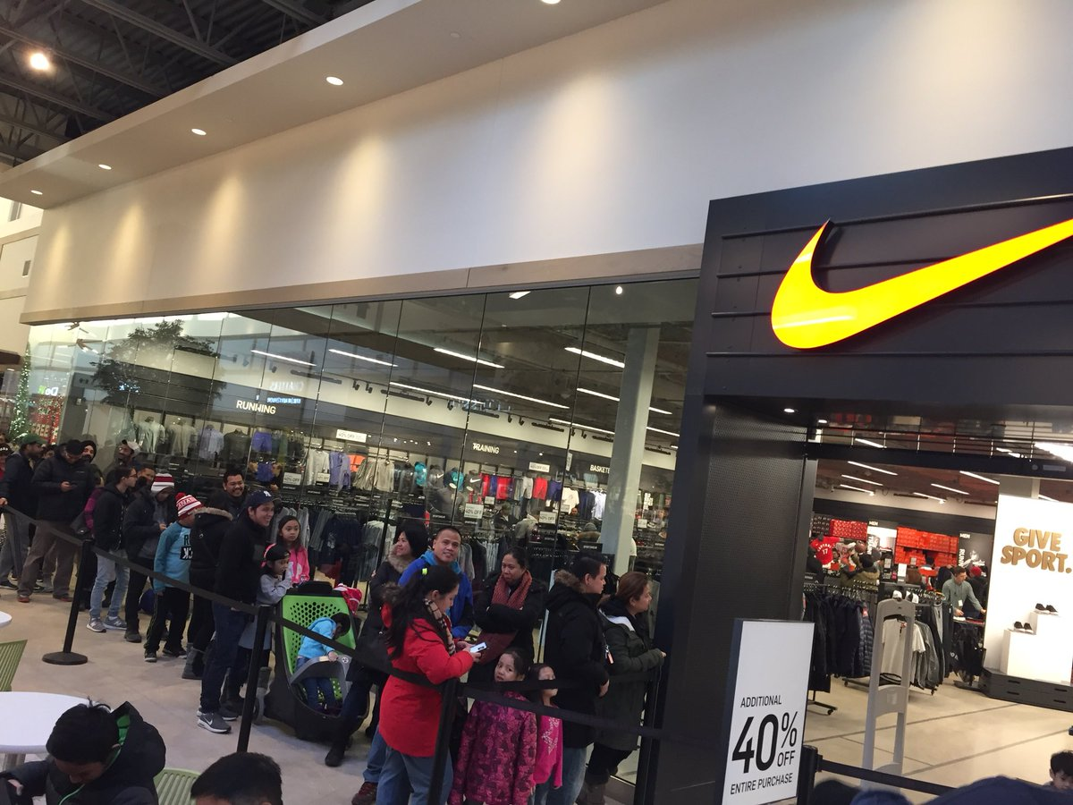 Austin Grabish On Twitter Huge Line Outside The Nike Store At Winnipegs Outlet Mall Biggest In Cbcmb Winnipeg