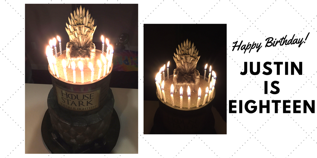 Lauren Mrozinski Of Joint Base MDL NJ Created This Gorgeous Game Thrones Cake For Justins 18th Birthday Happy Justin And Thank You