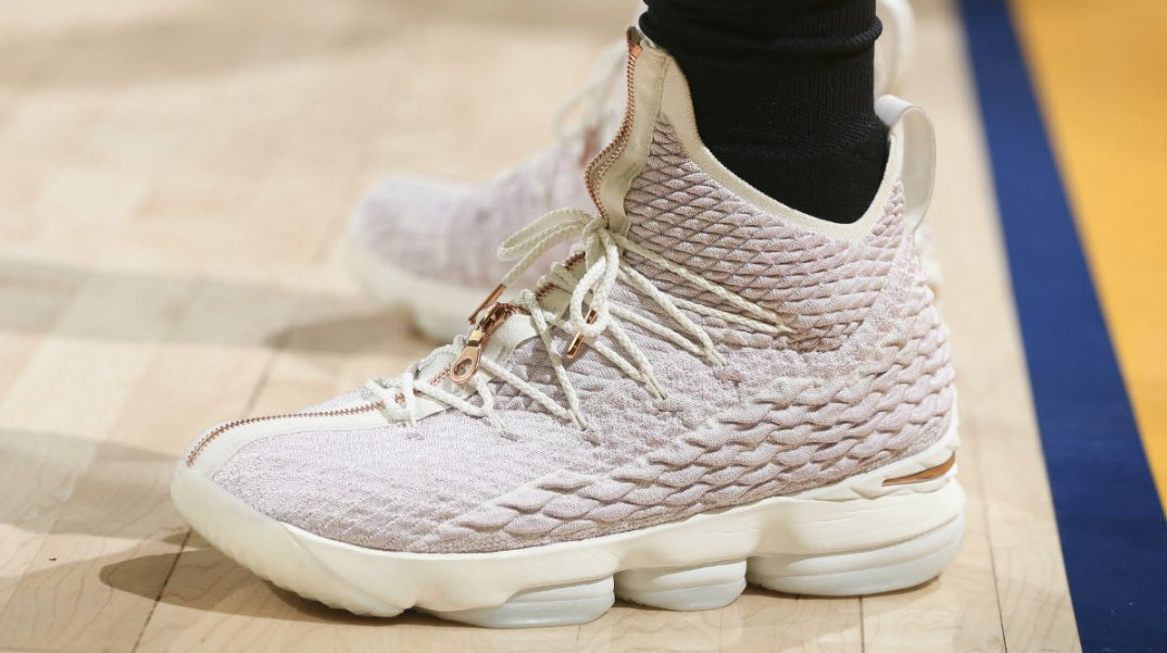 af3d2eaa244 kingjames debuted the rose gold kith x nike lebron performance 15 on court  yesterday .