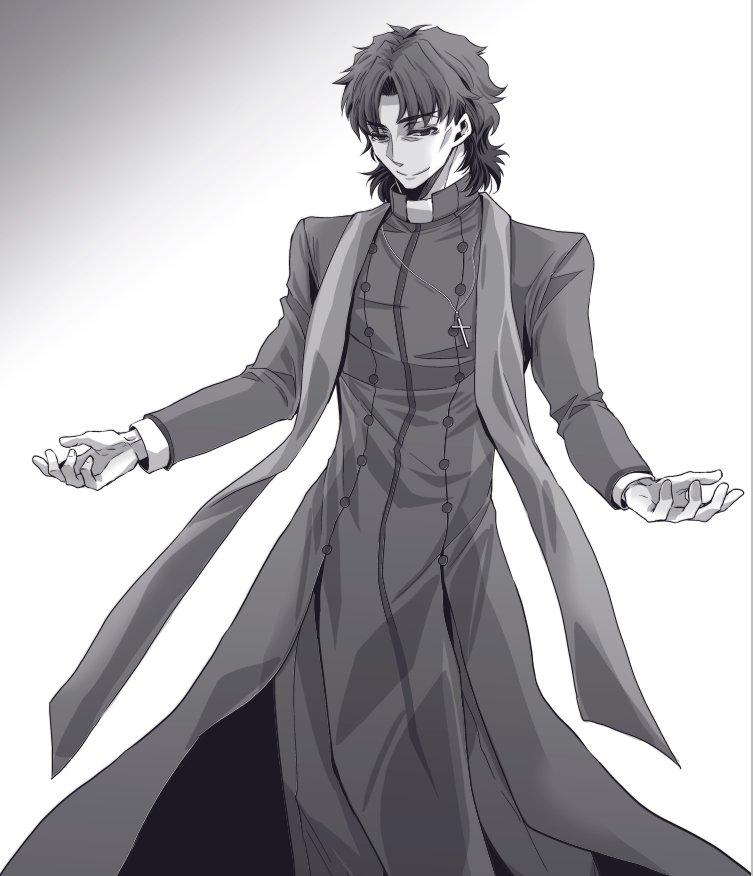 途中までアイリさんのコートみたいなカソックなのかな?と思ってたけどよくよく見るとフロントから分かれてるから違うなえぇいどうなってんだ全身図はよ!