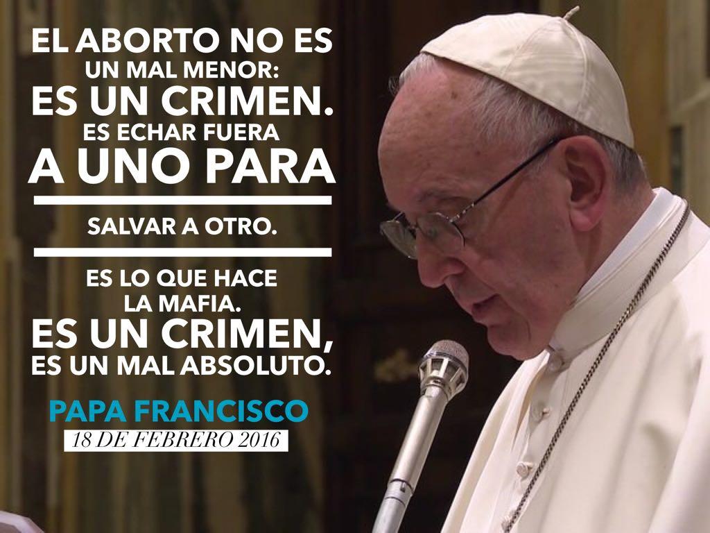 Resultado de imagen para imagenes aborto papa francisco