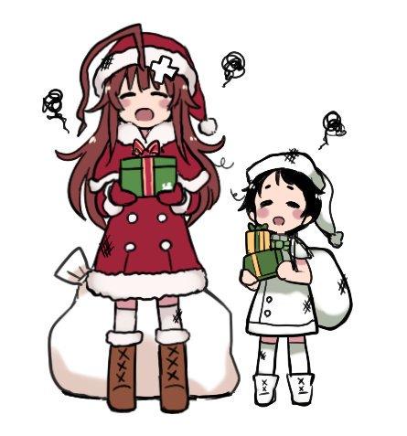 クリスマス演習係はくまちゃんとまるゆちゃんだったのでうちに演習で勝つとプレゼントがもらえるようになってました…………がなんかこれは心が痛みそうな……