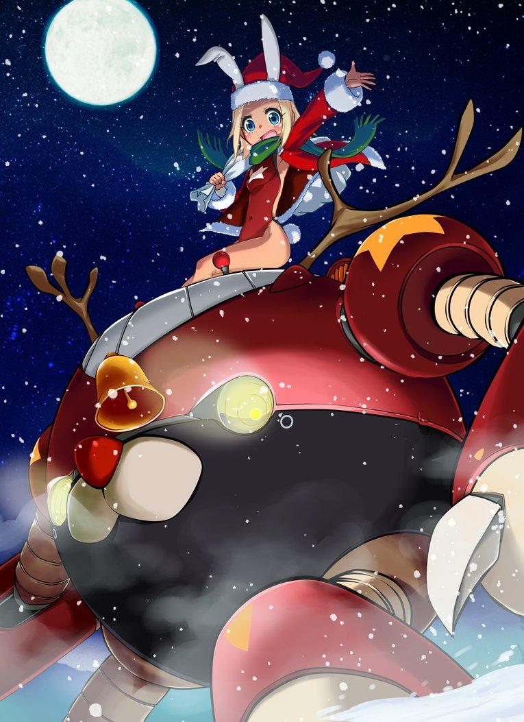 2日遅れのクリスマスイラスト。 ヨドガワ寒冷地仕様と京橋さん。  #アルカナハート #アルカナハートイラスト部