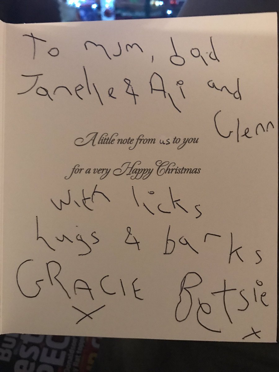 every year we receive christmas cards from my parents dogs and my mum and dad do it in bad handwriting as if to be like well lets keep it - What Do I Get My Dad For Christmas