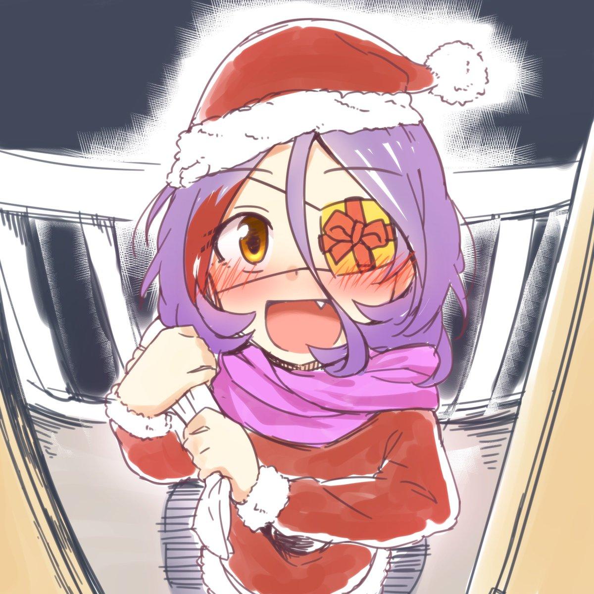 クリぼっちの美玲P諸兄にクリスマスプレゼントじゃよ  「へへッ、びっくりしただろッ!」  #美玲ドローイング