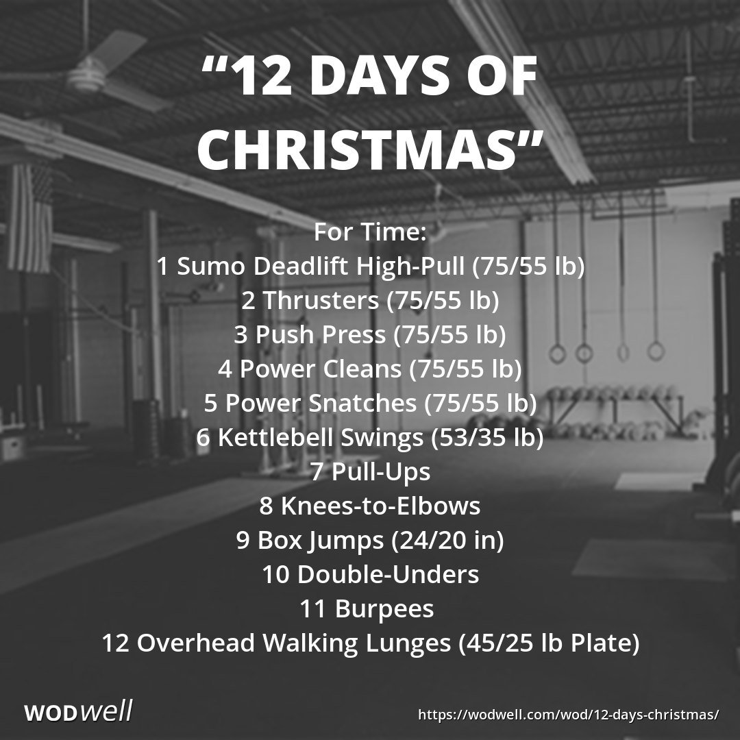 12 Days Of Christmas Crossfit Wod.Wodwell On Twitter Like The Song The 12 Days Of Christmas
