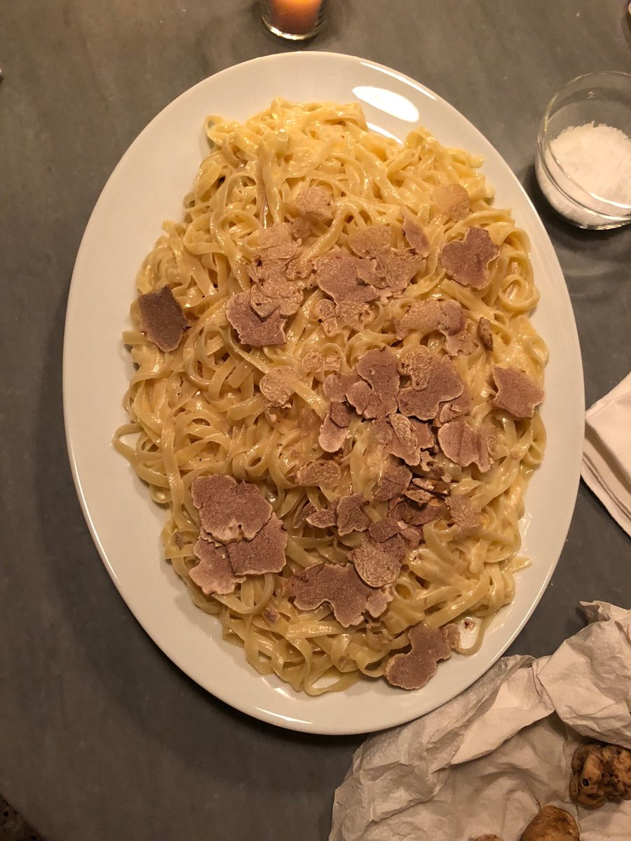A beautiful and delicious Christmas Eve dinner with family at daughter Alexis home Fettuccine with white truffles from Urbani and a huge green salad made ...