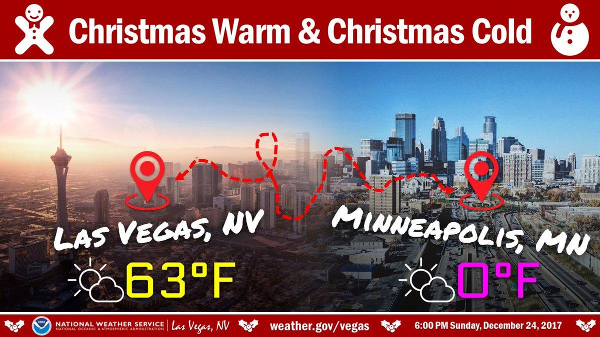 Las Vegas Christmas Weather.Nws Las Vegas On Twitter Christmas Warm Or Christmas