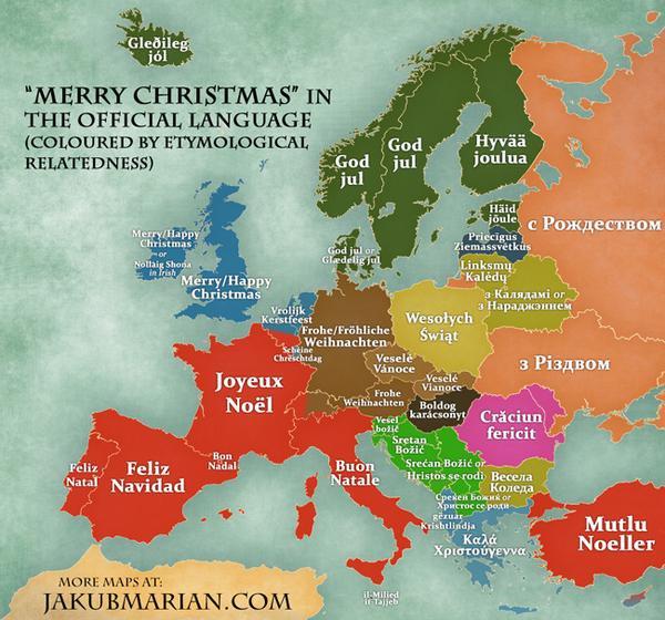 sean gardner on twitter merrychristmas in european languages