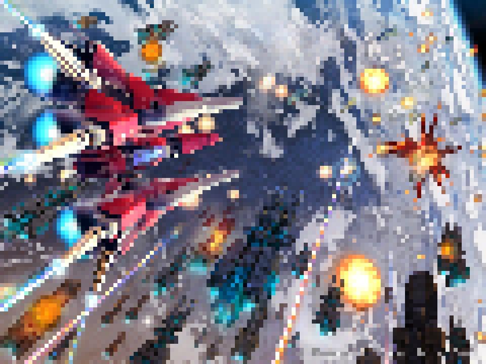 Pixelmash、アニメはツライけど絵をドット絵風にするのは簡単で楽しいよー。