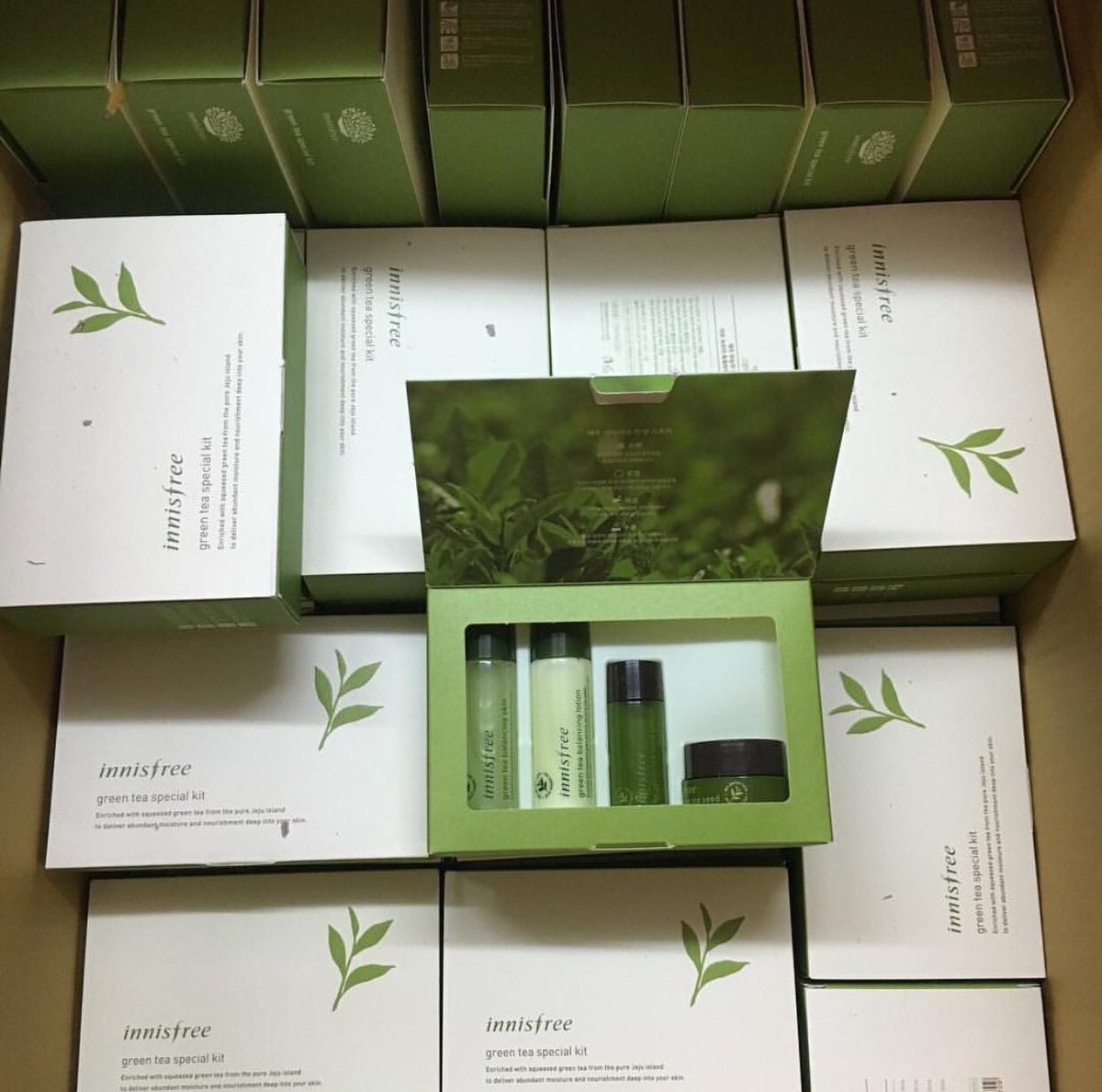 On Twitter Innisfree Green Tea Balancing Special Kit 4 Items 350 Skin 25ml Lotion Seed Serum 15ml Cream 10ml