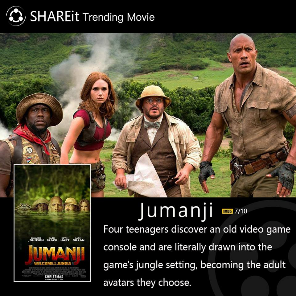 #SHAREmovie Jumanji is back with another mystery on the big screen. Trailer:  https://www. youtube.com/watch?v=2QKg5S Z_35I &nbsp; … <br>http://pic.twitter.com/rBrpKv97J8