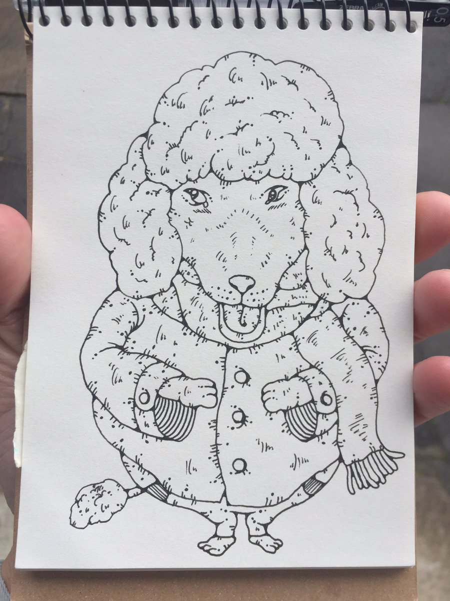 "esorakoto(大坪健哉) on twitter: ""『ぷーどる。』 #illustration"