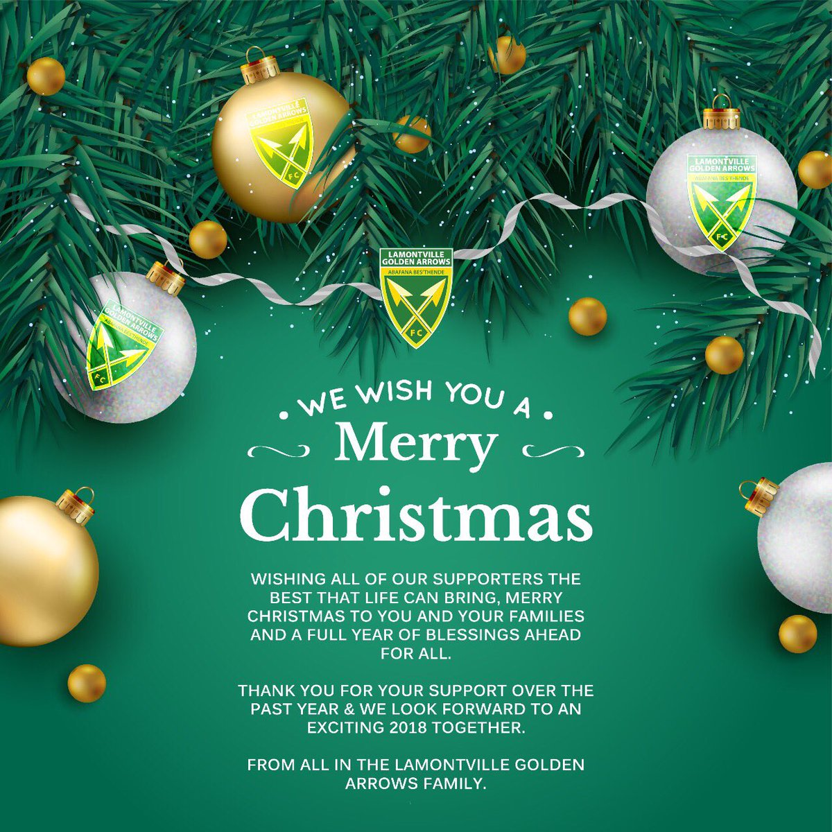 Golden Arrows Fc On Twitter Season Greetings Happy Holidays And