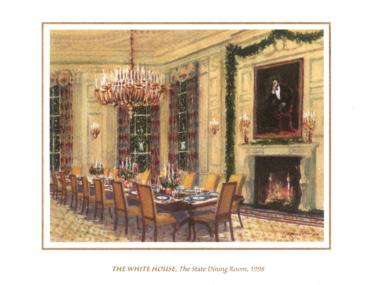 Michael a nissan on twitter one of my favorite holiday greeting favorite holiday greeting cards the white house the state dining room 1998 by ray ellis wishing everyone a merry christmas and a happy new year dzzzfo