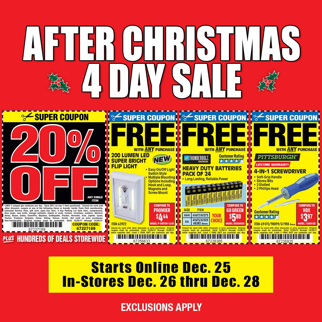 Harbor Freight Christmas Eve Hours.Harbor Freight Tools On Twitter Starting Online On