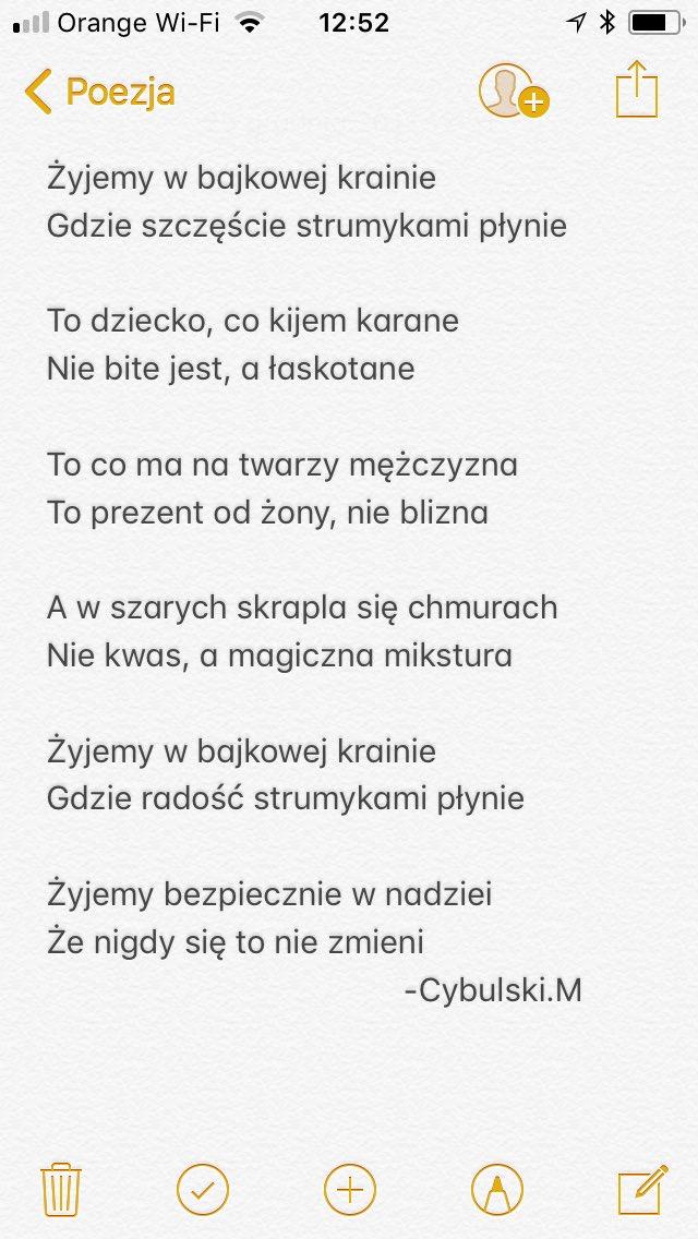Gafomaniak On Twitter Wiersz Poezja Cudowny Mamy świat