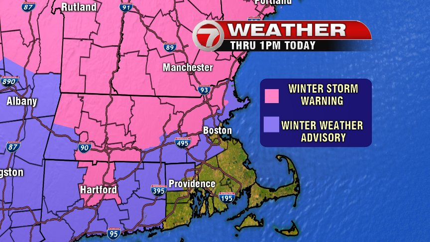 Rare blizzard warning as snow blankets northern New England