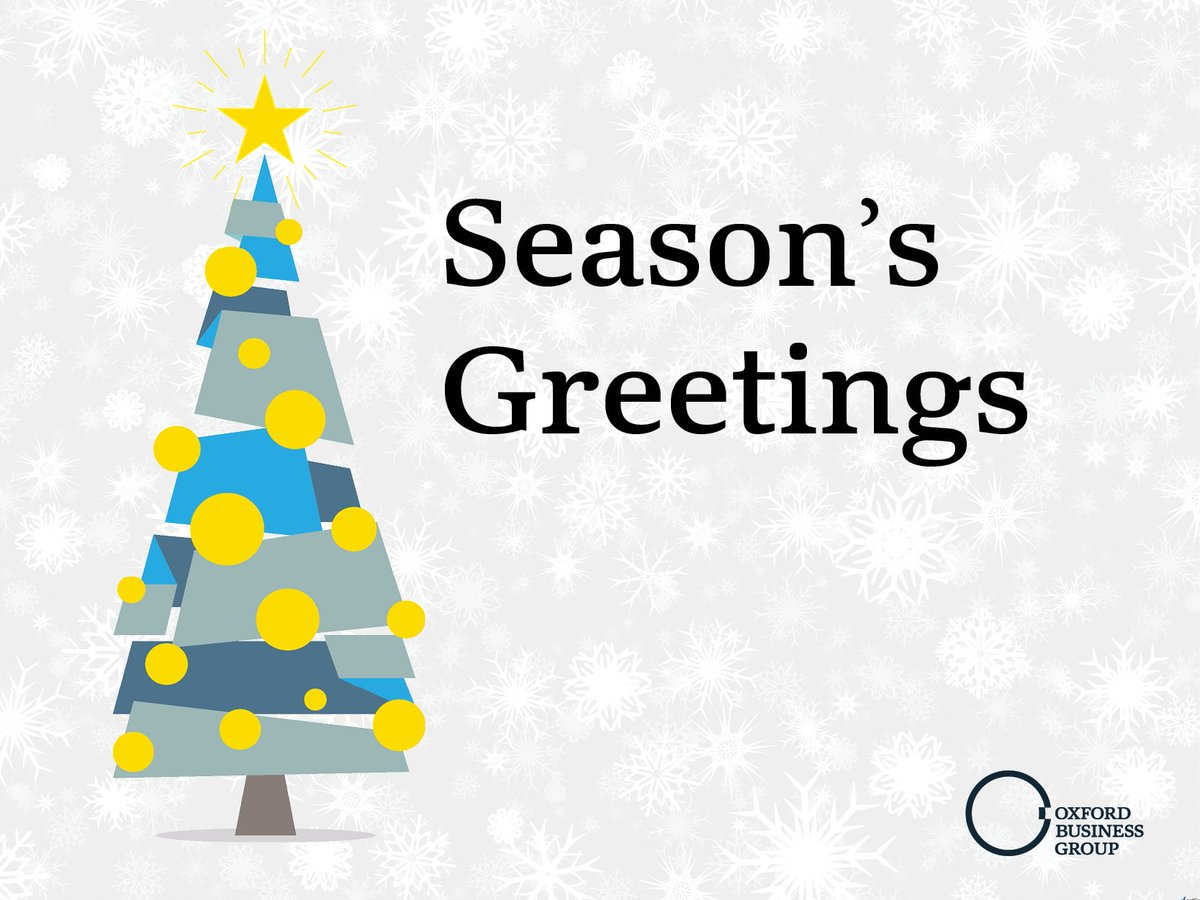Oxfordbusinessgroup On Twitter Seasons Greetings From Oxford