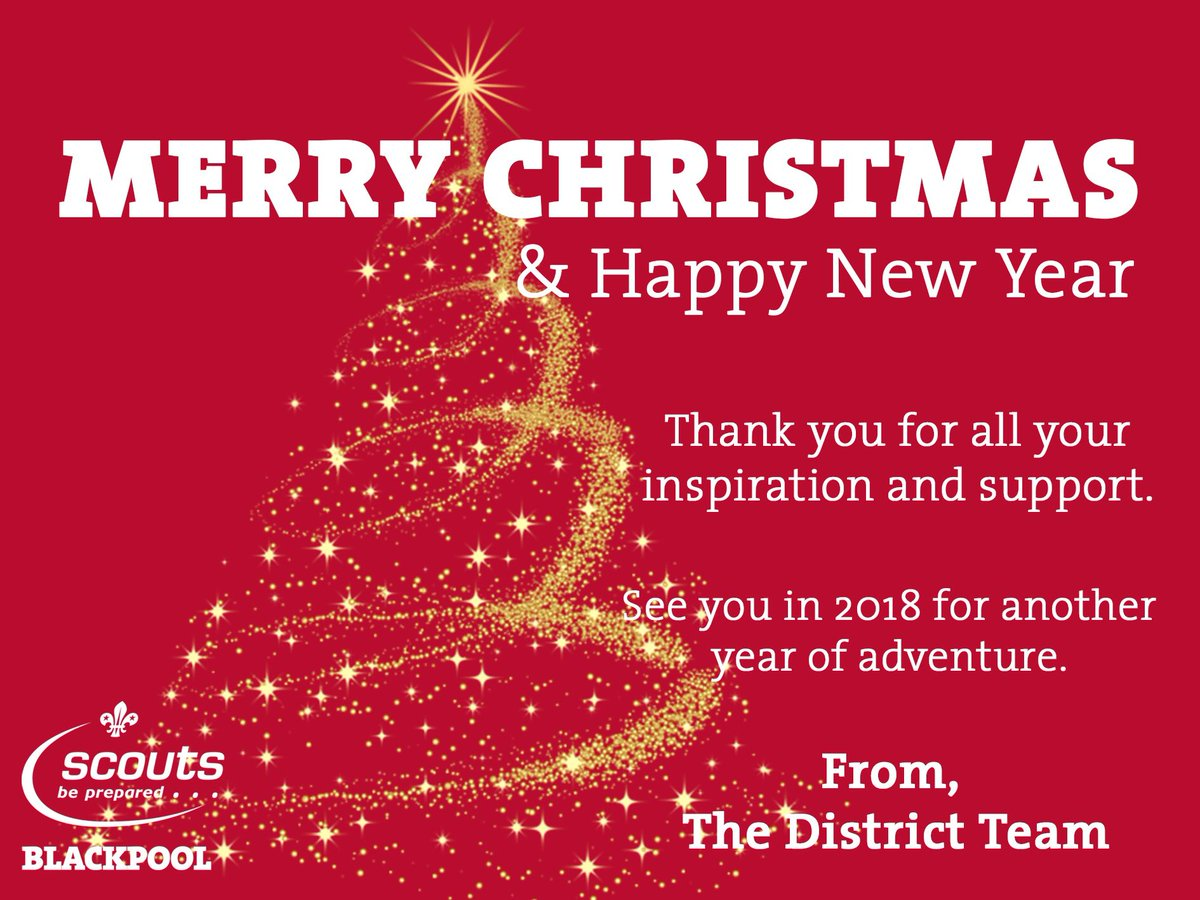 Blackpool scouts on twitter merry christmas everyone thanks for thanks for all you have done to make 2017 fantastic for our young people in blackpool heres to 2018 httpstazp5akoebv kristyandbryce Gallery