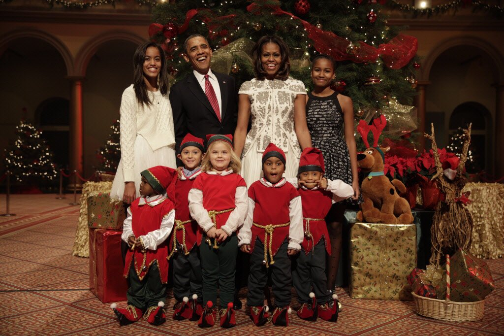 On behalf of the Obama family, Merry Chr...