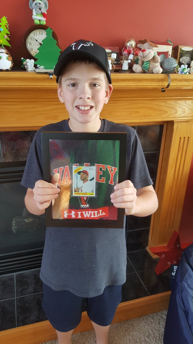 i put it in a glass frame so it can hang in his room your reach goes well beyond the field sir merry christmas to you and your familypictwittercom - Tommy Christmas