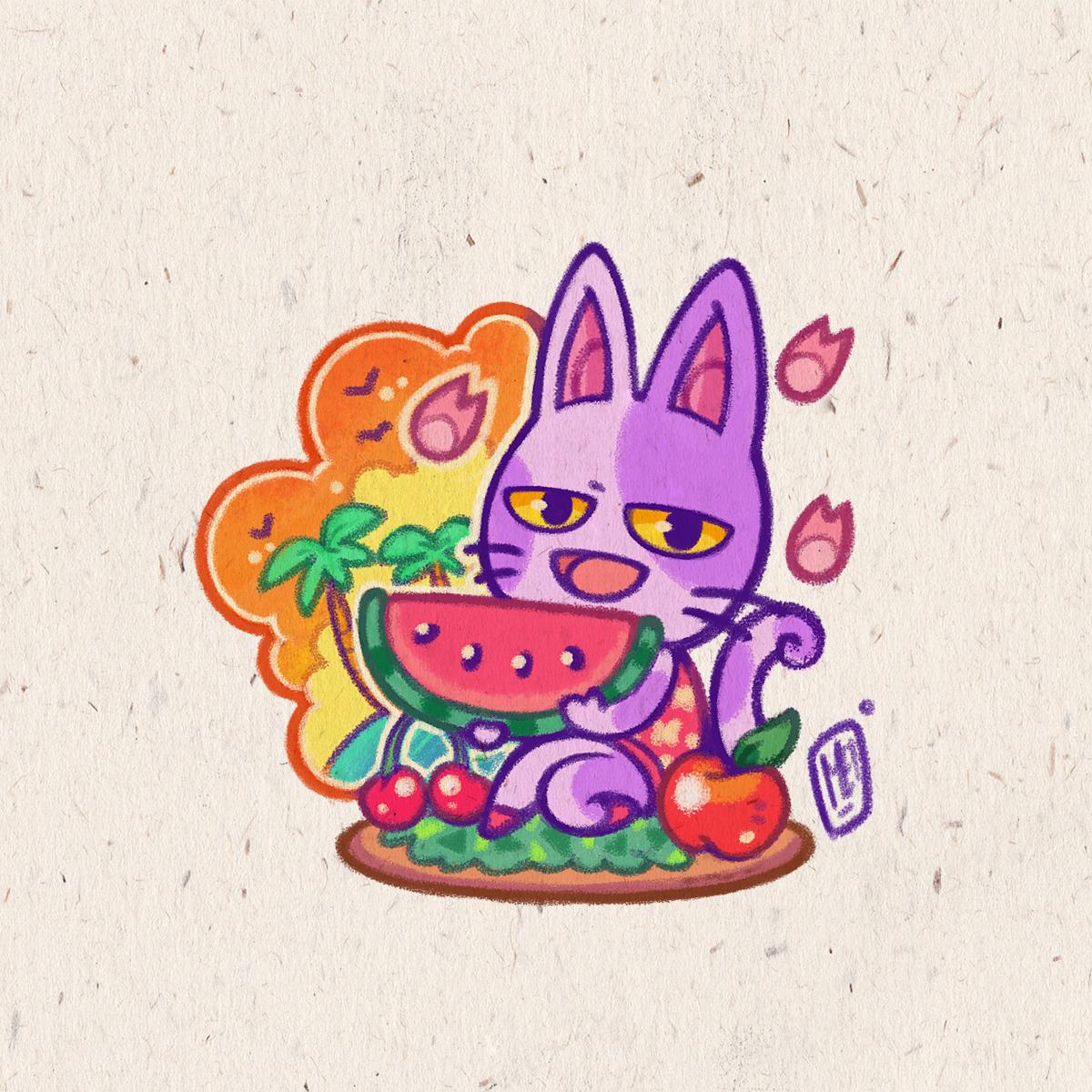 Mei Serenade Illustration Jw Valencia On Twitter Bob The Cat