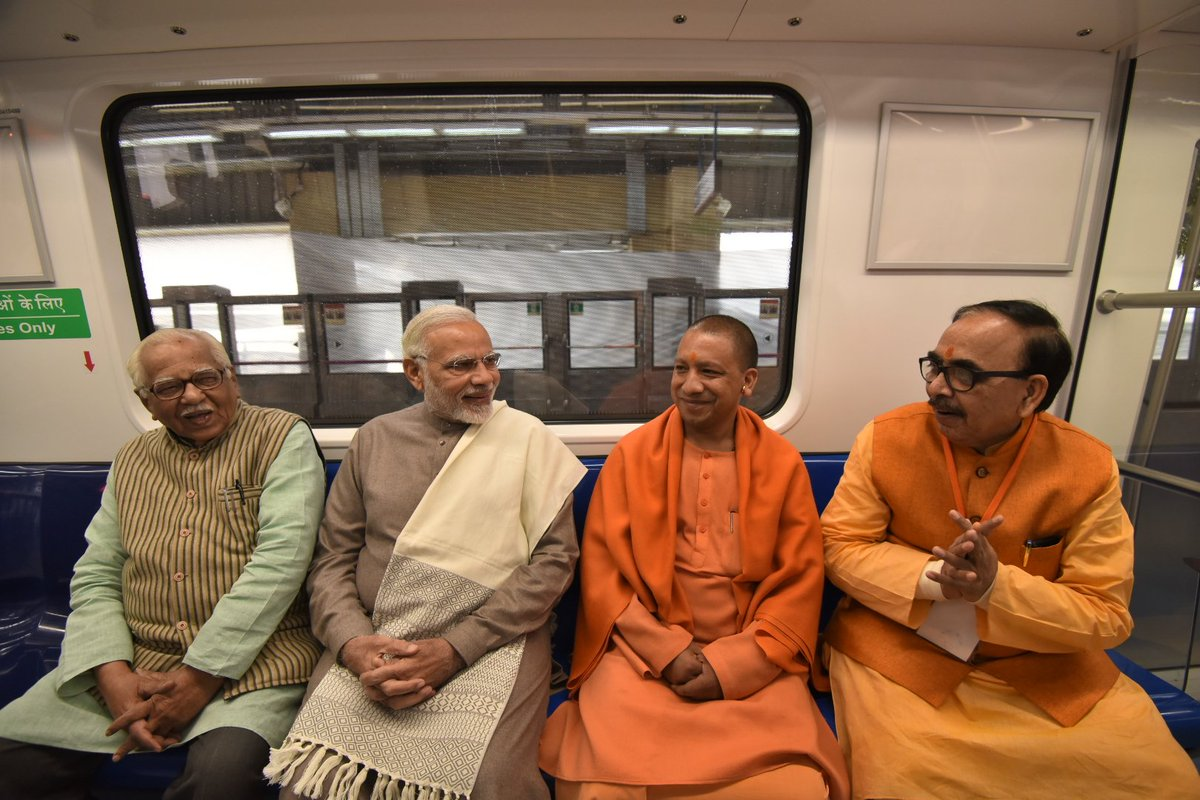 On this special day, delighted to inaugurate the new Magenta Line of the Delhi Metro. Had the opportunity of travelling in the Metro as well. Here are some glimpses.