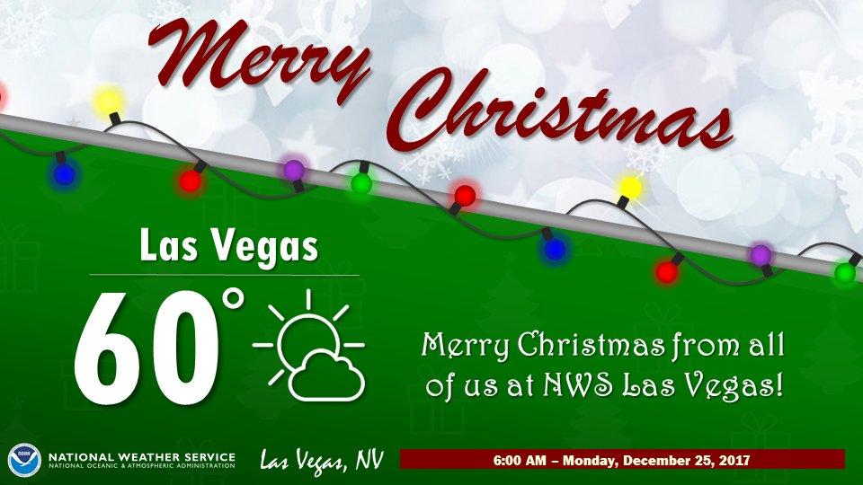 Las Vegas Christmas Weather.Nws Las Vegas On Twitter A Warm Las Vegas Christmas
