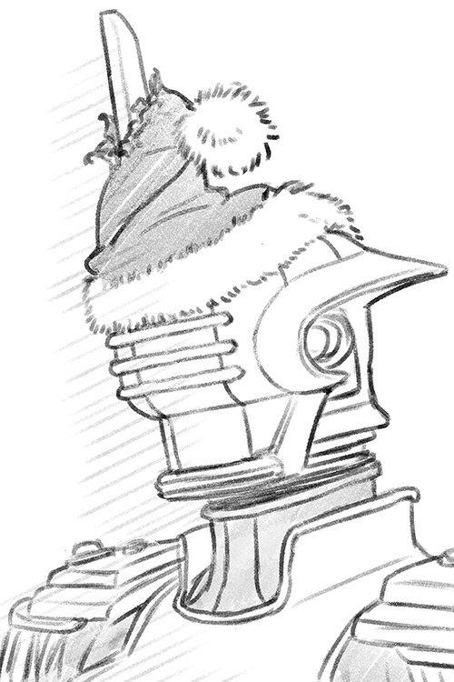 サンタ帽にはしゃいで勢いつけて被ったら、的な……ショボンハイ  思いついたら描かずにおれんかったんや……スマヌ…スマヌ……