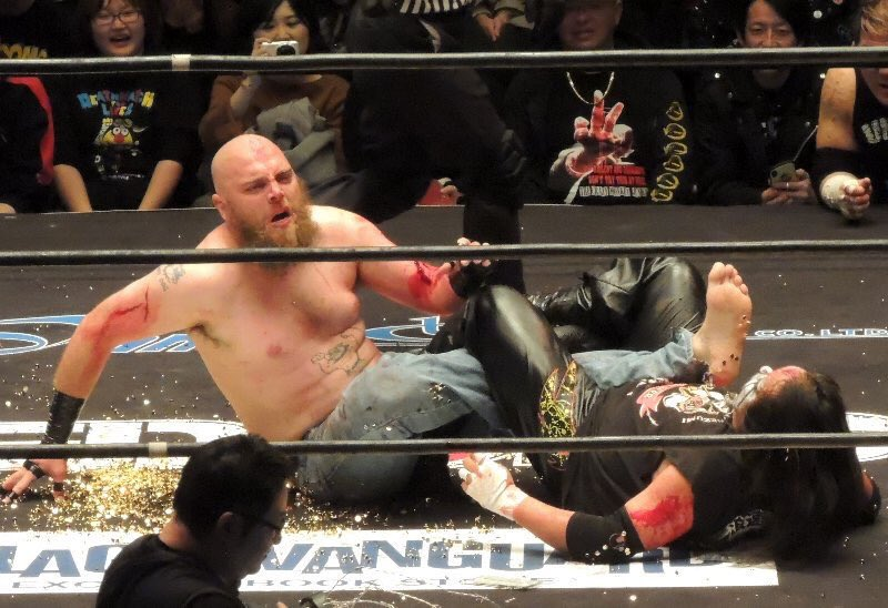 """Bret on Twitter: """"Mad Dog McCrea from Outback Championship Wrestling in  Australia was the mystery opponent for Kenji Fukimoto today at the Bloody  Christmas show… https://t.co/Az77aJl8lx"""""""